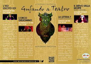 Volantino A5   Rassegna Teatrale   Gufando a Teatro