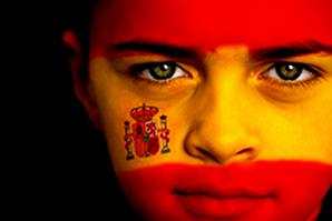Spanish football fan
